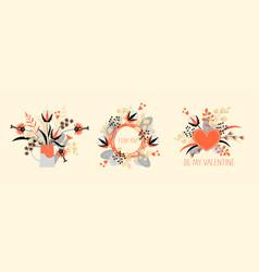 wreath bouquet and composition original flower vector image