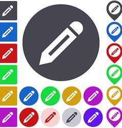 Write Icon Set vector