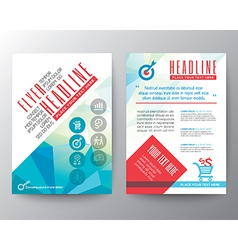 Abstract Typography Polygon Brochure Flyer Layout Vector Image Vector Image