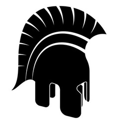 Ancient Helmet Black White vector image