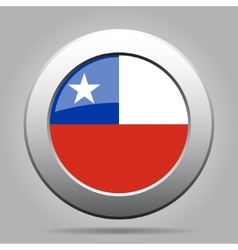 metal button with flag of Chile vector image vector image