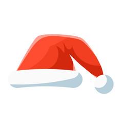 red santa hat christmas symbol vector image