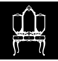 silhouette of console mirror vector image
