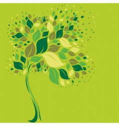 tree symbol from colorful leafs vector image