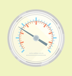Manometer flat style vector image vector image