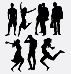 People male and female silhouette vector image