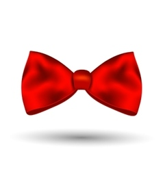 Red bow isolated on white background vector image vector image