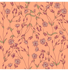 Seamless texture with flowers and leaves vector image vector image