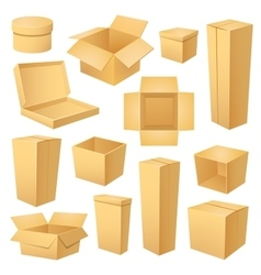 Set of different boxes vector image