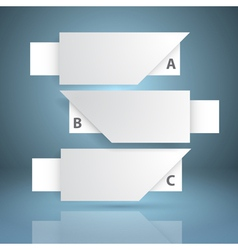 Three white paper notes vector image