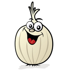 happy onion character vector image vector image