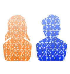 human head jigsaw patterns vector image vector image