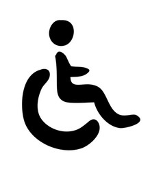 monochrome hand drawn silhouette of wheelchair vector image vector image