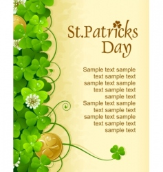 St Patrick's vector image vector image