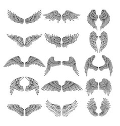 tattoo design pictures of different stylized wings vector image