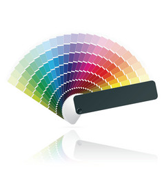 color fan vector image