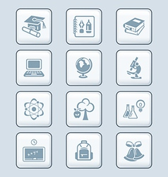 education icons - tech series vector image vector image