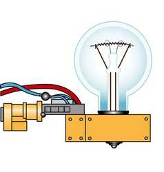 Electric lamp on a support vector image vector image