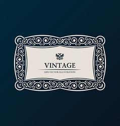 Label frame Vintage banner decor vector image vector image