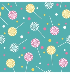 Seamless retro pattern with lollipops vector image
