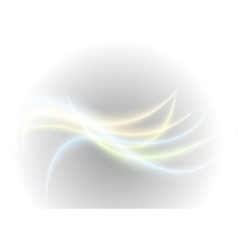 Abstract bright glowing waves background vector image