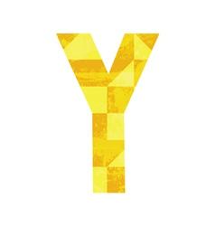 Abstract color alphabet Y vector image