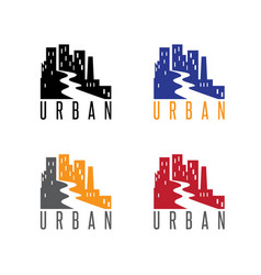 abstract icon design template urban landscape vector image