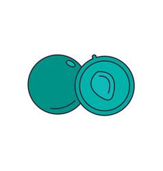 Alma icon cartoon style vector