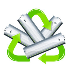 battery recycle concept vector image