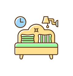 bedroom furniture rgb color icon vector image