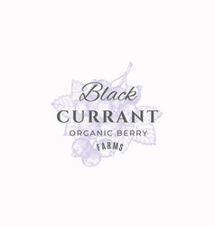 black currant farms abstract sign symbol vector image