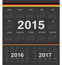 Black German circle calendars 2015 2016 2017 vector