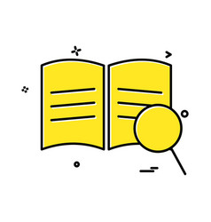 book search icon design vector image