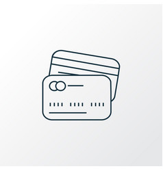 card to card icon line symbol premium quality vector image