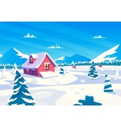 cartoon a beautiful snow vector image
