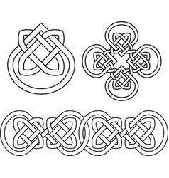 Celtic knot droplet flower pattern vector