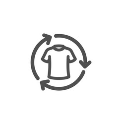 Change clothes icon shirt sign clothing t-shirt vector
