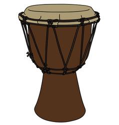 Classic wooden drum vector