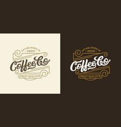 coffee shop logo design template retro coffee vector image