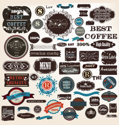 collection labels set premium quality grunge style vector image