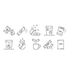 Collection of icons with packages vector