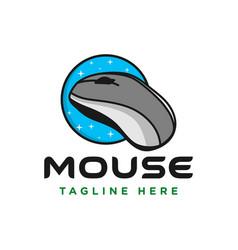computer mouse technology logo vector image