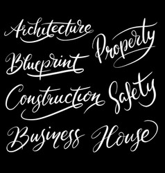 Construction hand written typography vector