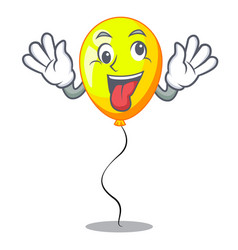 Crazy yellow balloon isolated on for mascot vector
