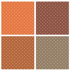 dark brown polka dots seamless pattern set vector image