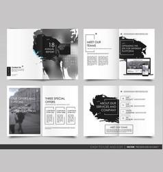 Design annual report template brochures vector