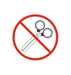 do not use scissors vector image