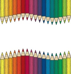 doodle colored pencil border wave vector image
