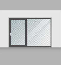 door with transparent glass isolated on vector image