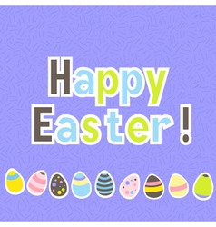 Easter colorful purple greeting card vector